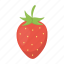 food, fresh, fruit, health, strawberry, vitamin icon