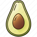 avocado, diet, food, fruit, healthy icon