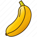 banana, diet, food, fruit, healthy icon