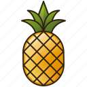 diet, food, fruit, healthy, pineapple icon