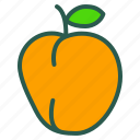 food, fruit, healthy, peach icon