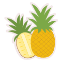 food, fresh, fruit, healthy, meal, pineapple icon