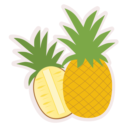 Food, fresh, fruit, healthy, meal, pineapple icon - Free download