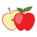 apple, food, fresh, fruit, healthy, meal icon