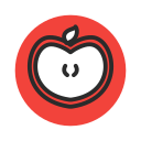 appel, fruit, red, sliced, vegetable icon