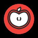 appel, fruit, red, sliced, vegetable