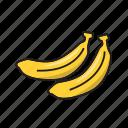 banana, color, food, fruit, yellow