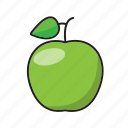 apple, food, fruit, green, green apple