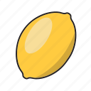 food, fruit, lemon, sour, yellow icon
