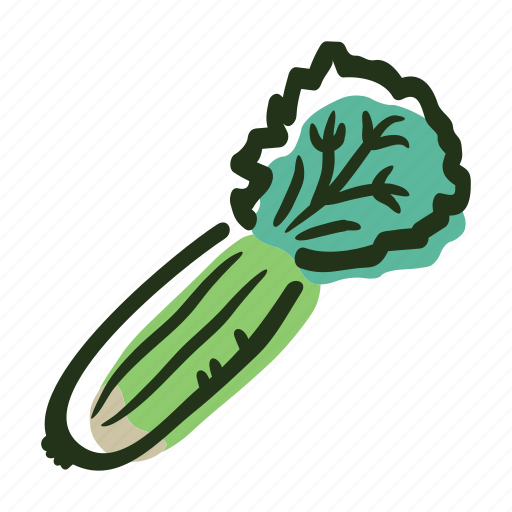 allergens, celery, food, ingredient, salad, vegetable, vegetarian icon