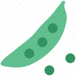 food, pea, peas, spherical green seeds, vegetable icon