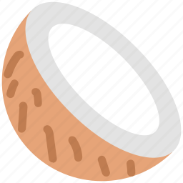 coco, coconut, half of coconut icon