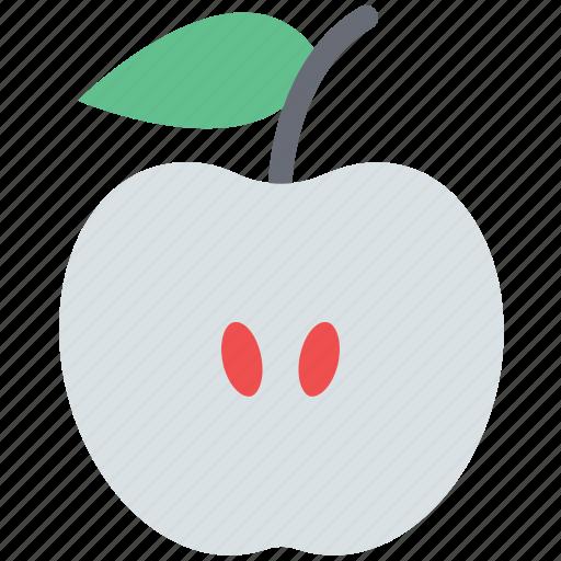 apple fruit, food, fruit, half apple, healthy food icon