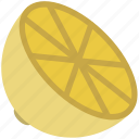 citrus, citrus half, food, fruit, lemon, lemon half, lime icon