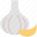 ail, cooking ingredient, food flavor, garlic, garlic bulb, garlic clove, vegetable icon