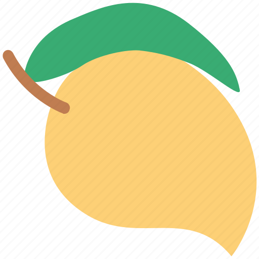 fleshy fruit, fruit, mango, mango fruit, tropical icon