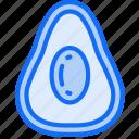 avacado, eating, food, fruit, health icon