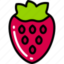 eating, food, fruit, health, strawberry icon