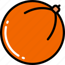 eating, food, fruit, health, orange icon