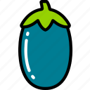 aubergine, eating, food, fruit, health icon