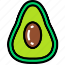 avacado, eating, food, fruit, health