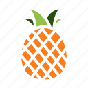 dessert, food, fresh, fruit, healthy, pineapple, tropical icon