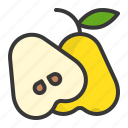 food, fruit, fruits, half, healthy, rose apple icon