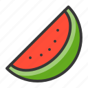 food, fruit, fruits, half watermelon, healthy, watermelon icon