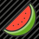 fruits, half watermelon, watermelon, food, fruit, healthy