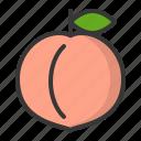 fruits, peach, food, fruit, healthy