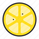 food, fruit, fruits, healthy, lemon, lemon slice, slice icon