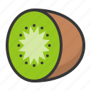 food, fruit, fruits, half, healthy, kiwi icon