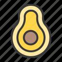 avocado, food, fruit, fruits, half avocado, healthy icon
