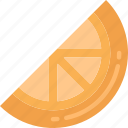 eating, food, fruit, health, orange, slice icon