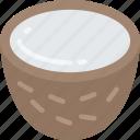 coconut, eating, food, fruit, health