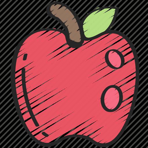 apple, eating, food, fruit, health icon