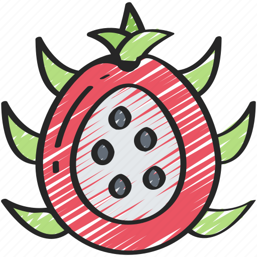 dragonfruit, eating, food, fruit, health icon