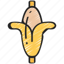 banana, eating, food, fruit, health