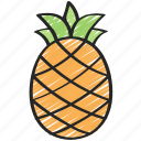 eating, food, fruit, health, pineapple icon
