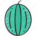 eating, food, fruit, health, watermelon icon