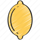 eating, food, fruit, health, lemon icon
