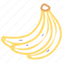 banana, food, fruit, fruits icon