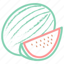 food, fruit, fruits, watermelon, watermelon slice icon