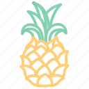 food, fruit, fruits, pineapple, tropical