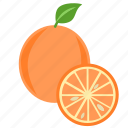 citrus, food, fruit, juice, natural, orange, tropical icon