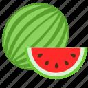 food, fruit, melon, natural, slice, summer, watermelon icon