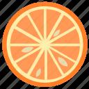 citrus, food, fruit, juice, natural, orange, slice icon