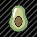 avocado, food, fruit, gastronomy, half, healthy, vegetable