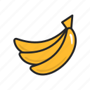 banana, food, fruit, fruits, healthy, sweet, vegetable icon