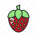 food, fruit, health, healthy, strawberry, sweet, vegetable icon